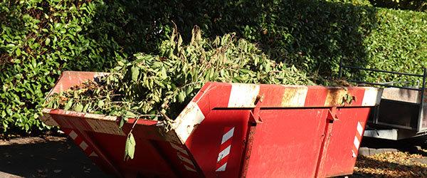 benne evacuation dechets verts