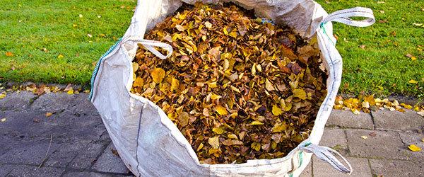big bag feuilles ramassage dechets du jardin