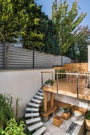 prix terrasse bois etage