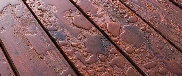 terrasse bois eau piscine