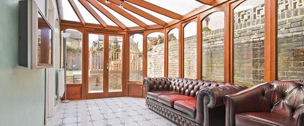 veranda bois et verre